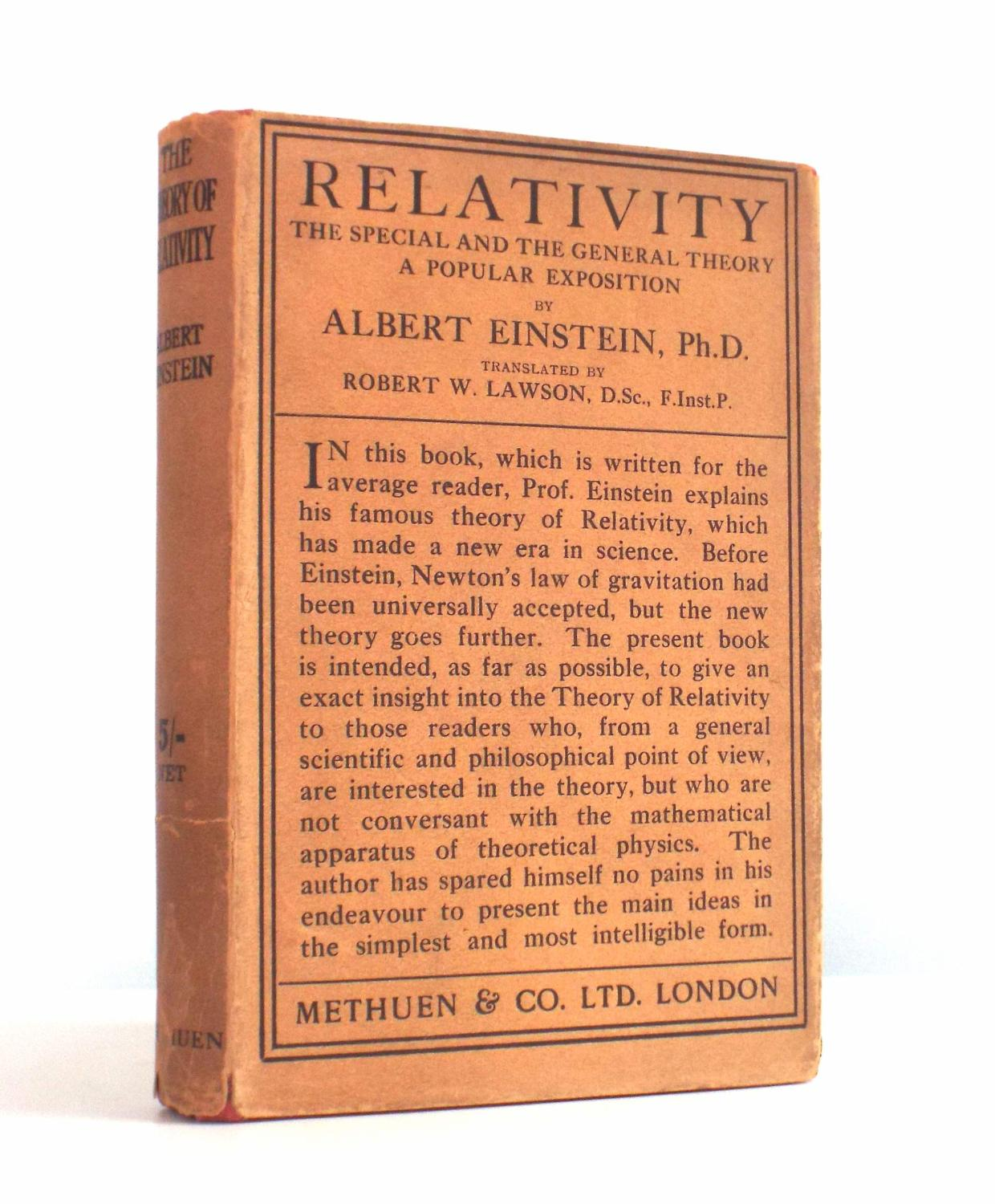 Albert Einstein Theory Of Relativity Book