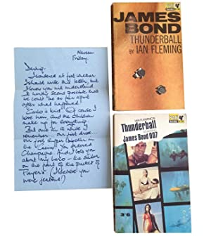 Thunderball - with the original Domino letter + 1st Paperback