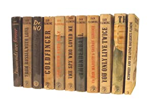 Set of James Bond First UK Editions 1956-66 - Including a SIGNED copy of Goldfinger