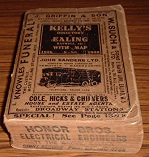Kelly's Directory of Ealing , Hanwell Etc 1936