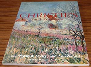 Impressionist, Modern and Post-War Art Christies's London: Christie's London