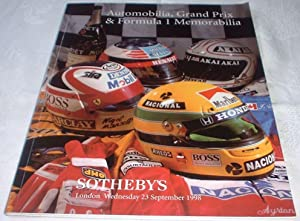Automobilia, Grand Prix and Formula 1 Memorabilia : Sotheby's London Auction Catalogue 23 Septemb...