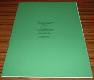 A Sample Anthology of Tom Foley's Poetry Prepared for the International Library of Poetry of Amer...