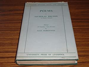 Poems By Nicholas Breton ( Not Hitherto Reprinted )