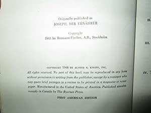 Joseph The Provider: Thomas Mann