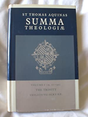 Summa Theologiae; Volume 6: Creation , The trinity