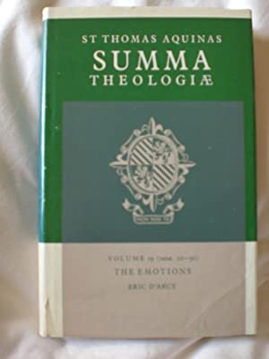 Summa Theologiae; Volume 19 : The Emotions