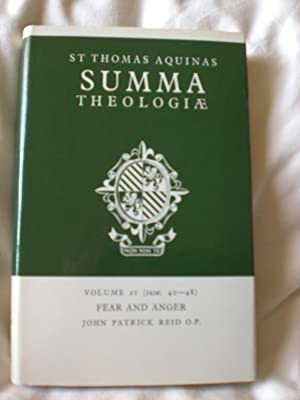 Summa Theologiae; Volume 21 : Fear And Anger