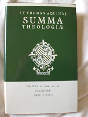 Summa Theologiæ - Pleasure- Volume 20