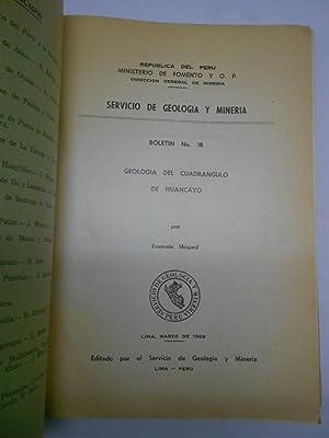 GEOLOGIA DEL CUADRANGULO DE HUANCAYO.: MEGARD, Francois