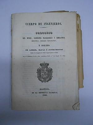 PROGRESO DEL MUSEO, GABINETES TECNOLOGICO Y GIMNASTICO. Y SORTEO DE LIBROS , MAPAS E INSTRUMENTOS. ...
