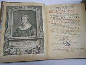 HUGONIS GROTII DE JURE BELLI AC PACIS: GROTIUS, Hugo (Hugonis