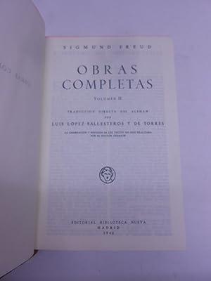 OBRAS COMPLETAS, vol. II. (Esquema del psicoanálisis. Introducción al psicoaná...