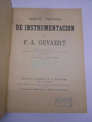 NUEVO TRATADO DE INSTRUMENTACION.: GEVAERT, F. A.