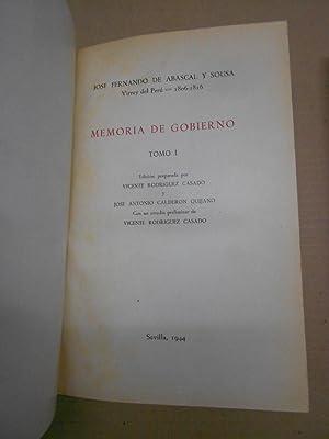 MEMORIA DE GOBIERNO DEL VIRREY ABASCAL, 1806-1816. Tomos I y II (completo).: RODRIGUEZ CASADO / ...
