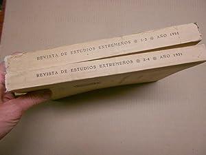 REVISTA DE ESTUDIOS EXTREMEÑOS. Año 1951 completo. Tomo XIII, Núm. I-II y III. Revista histórica, ...