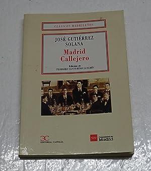 MADRID CALLEJERO.: GUTIERREZ SOLANA, José