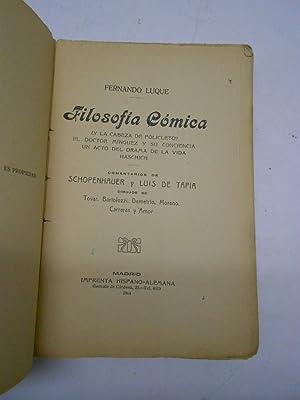 FILOSOFIA COMICA. ¿Y la cabeza de Policleto?. El doctor Mínguez y su conciencia. Un ...