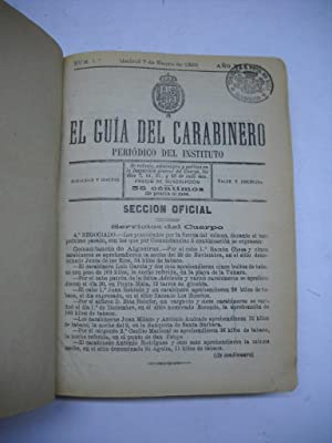 EL GUIA DEL CARABINERO. Periódico del Instituto. Año 1890 completo.: Militaria)