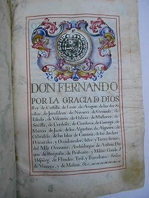 REAL EXECUTORIA DE NOBLEZA SOLARIEGA DEL APELLIDO CALVO, 2 ejecutorias: 1 del año 1502, 1 ...