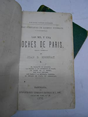 LAS MIL Y UNA NOCHES DE PARIS.: HOUSSAYE, Arsenio