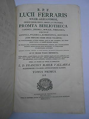 R. P. F. LUCII FERRARIS SOLER-ALEXANDRINI, ORDINIS: VALLARNA, FRANCISCI VALLARNA