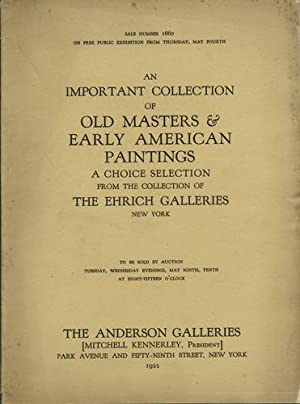 An Important Collection of Old Masters &: American Art Association,