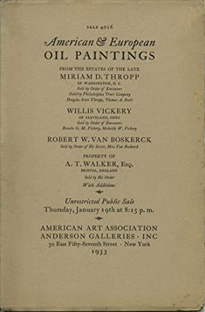oil paintings of the xvii xx century and earlier schools two portraits by rembrandt peale works by french artists american landscapes english landscapes portraits a few early dutch flemish and spanish works sale 4016 january 19 1933