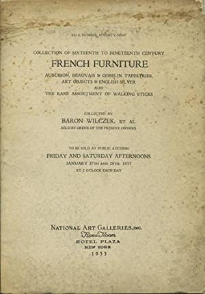 Sixteenth to nineteenth century French furniture, Aubusson,: National Art Galleries