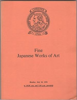 Fine Japanese Works of Art. Japanese Ceramics,: Christie's (Christie, Manson