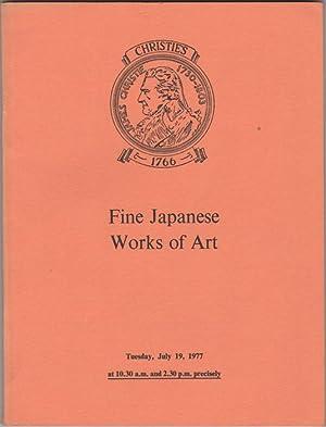 Fine Japanese Works of Art. Japanese Ivory: Christie's (Christie, Manson
