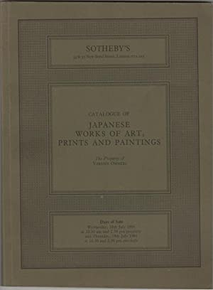 Japanese Works of Art, Prints and Paintings.: Sotheby's (Sotheby Parke