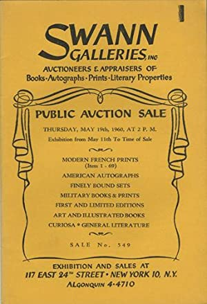 Modern French prints; American autographs; finely bound: Swann Galleries