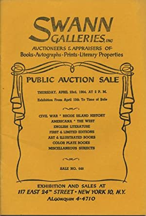 Civil War; Rhode Island history; Americana; the: Swann Galleries
