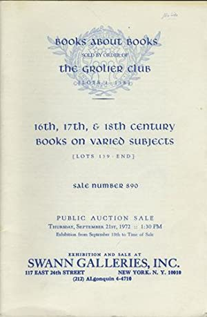 Books about books sold by order of: Swann Galleries