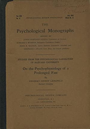 On the Psychophysiology of a Prolonged Fast
