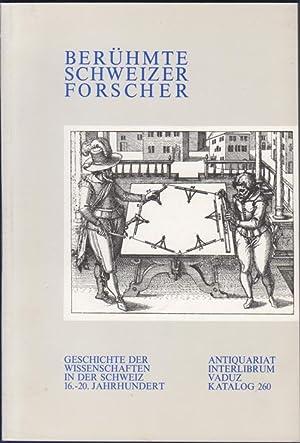 Berühmte Schweizer Forscher. Geschichte der Wissenschaften in: Alicke, Walter (Interlibrum,