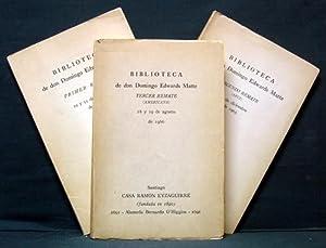 Biblioteca de don Domingo Edwards Matte. Primer Remate 10 y 11 de setiembre de 1965 [with] Secundo ...