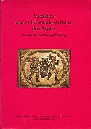 Subsídios para o Inventário Artístico dos Açores: Martins, Francisco Ernesto