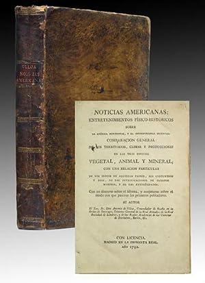 Noticias americanas: entretenimientos físico-históricos sobre la América: Ulloa, Antonio de