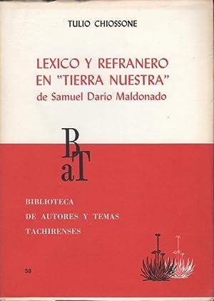 """Lexico y refranero en """"Tierra Nuestra"""" de: Chiossone, Tulio"""