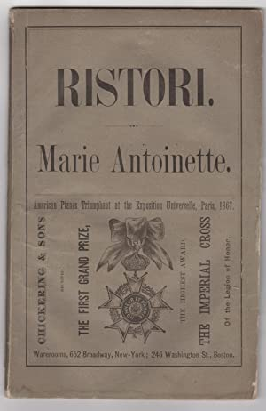 Marie Antoinette. A Drama in a Prologue,: Giacometti, Paolo. Pray,