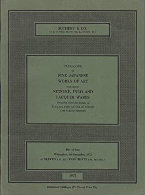 Catalogue of Fine Japanese Works of Art: Sotheby & Co.