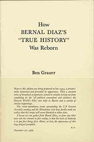 "How Bernal Diaz's ""True History"" was Reborn: Grauer, Ben"