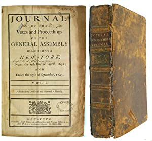 Journal of the Votes and Proceedings of the General Assembly of the Colony of New York Began the ...