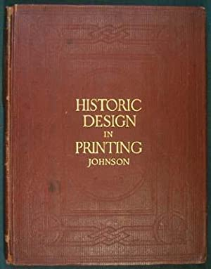 Historic Designs in Printing. Reproductions of Book: Johnson, Henry Lewis