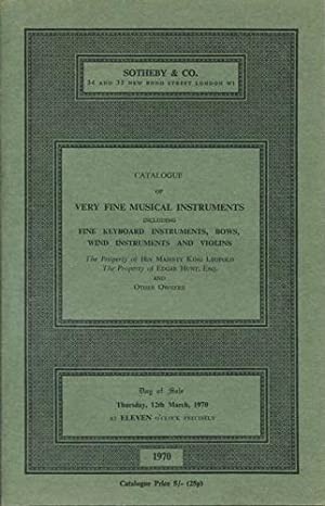 Catalogue of Keyboard instruments; wind instruments; bows;: Sotheby's