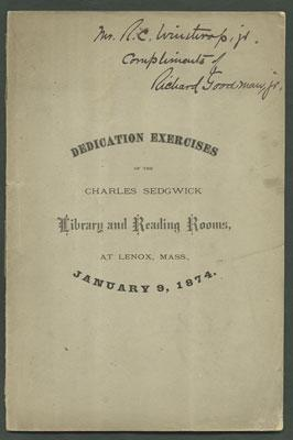 Dedication Exercises of the Charles Sedgwick Library: Rockwell, Francis Williams.