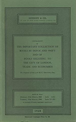 Catalogue of the important collection of books: Sotheby's
