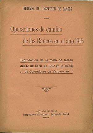 Informes del Inspector de Bancos sobre Operaciones: Vélez L., Ricardo